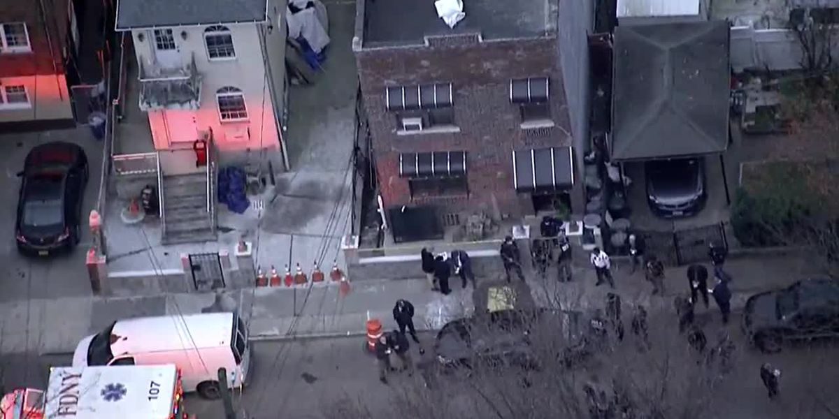 Aerial: Scene after US Marshals injured in shootout