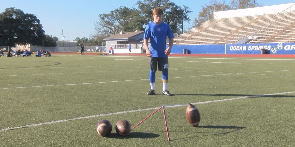 If a college team needs a kicker Brad Wall of Ocean Springs is ready to get his kicks in