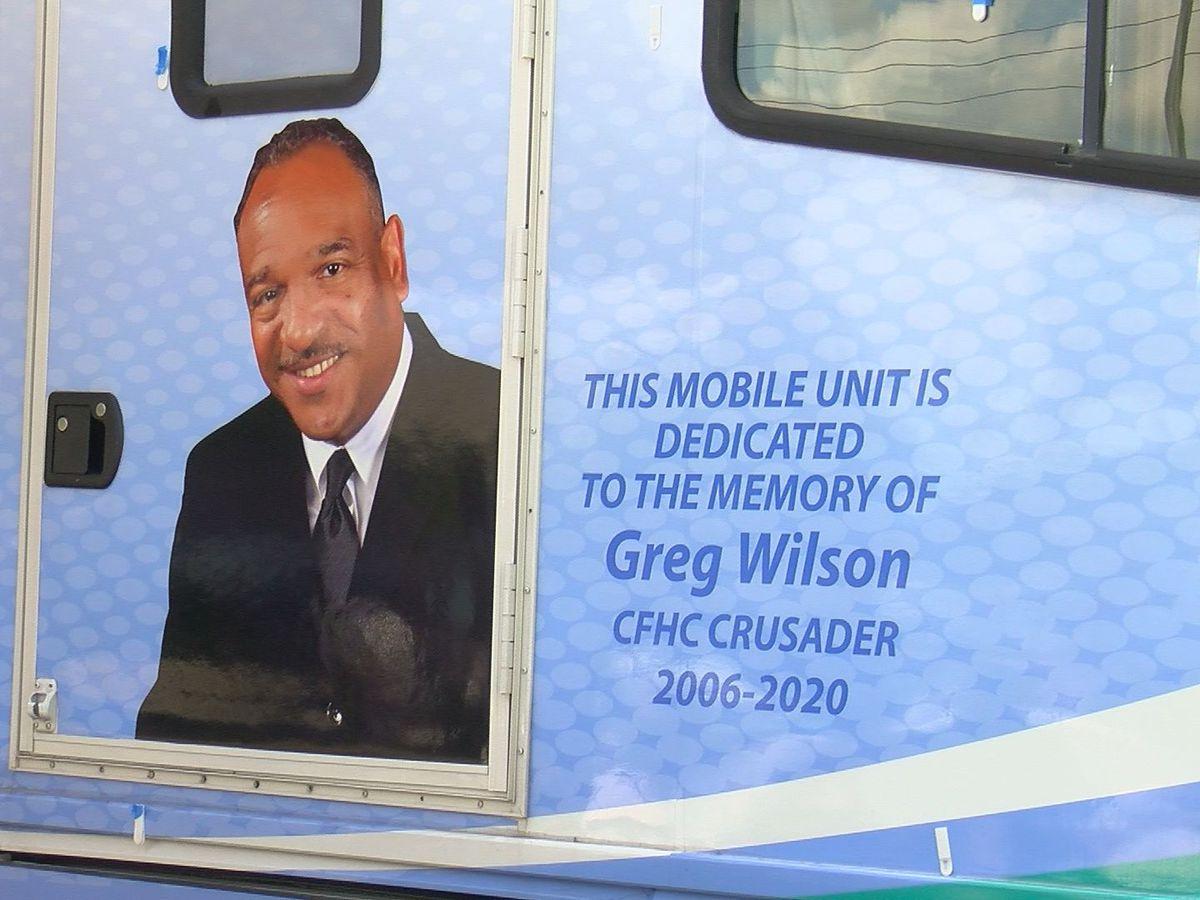 Coastal Family Health dedicates mobile van to Greg Wilson