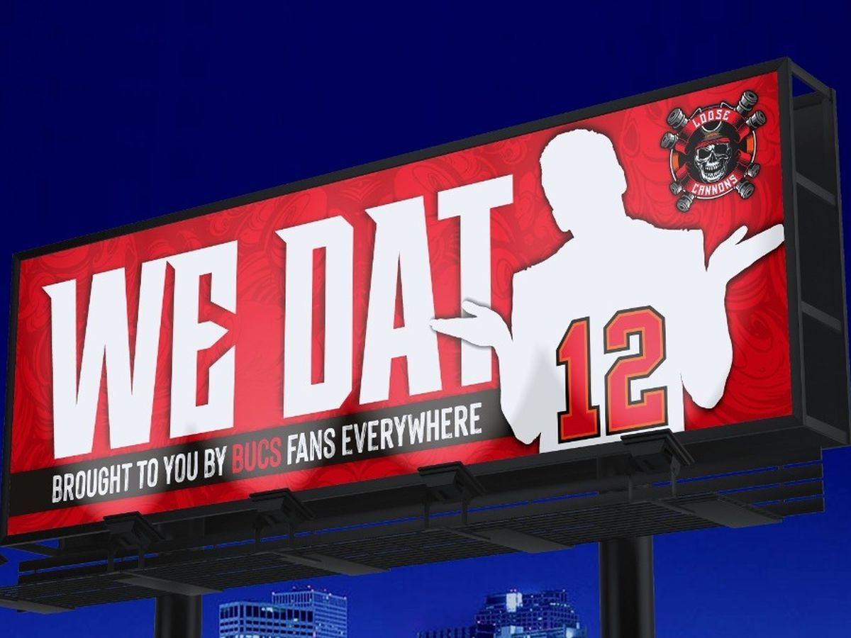 Bucs fans behind 'We Dat' billboard say company backed out of contract for ad near Superdome