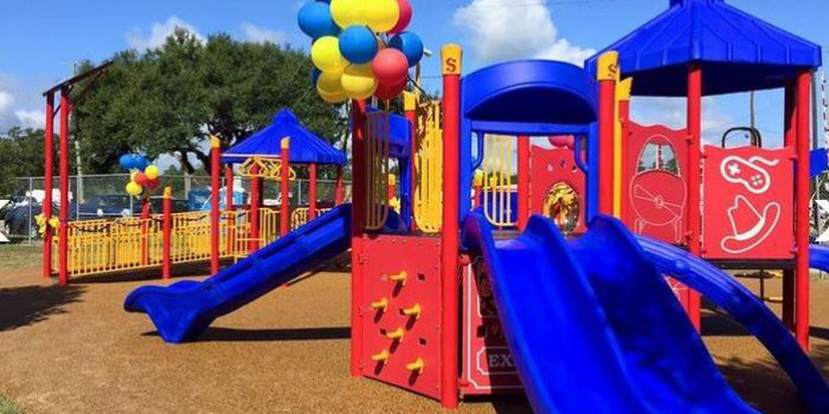 Waveland playground dedicated to Bane family