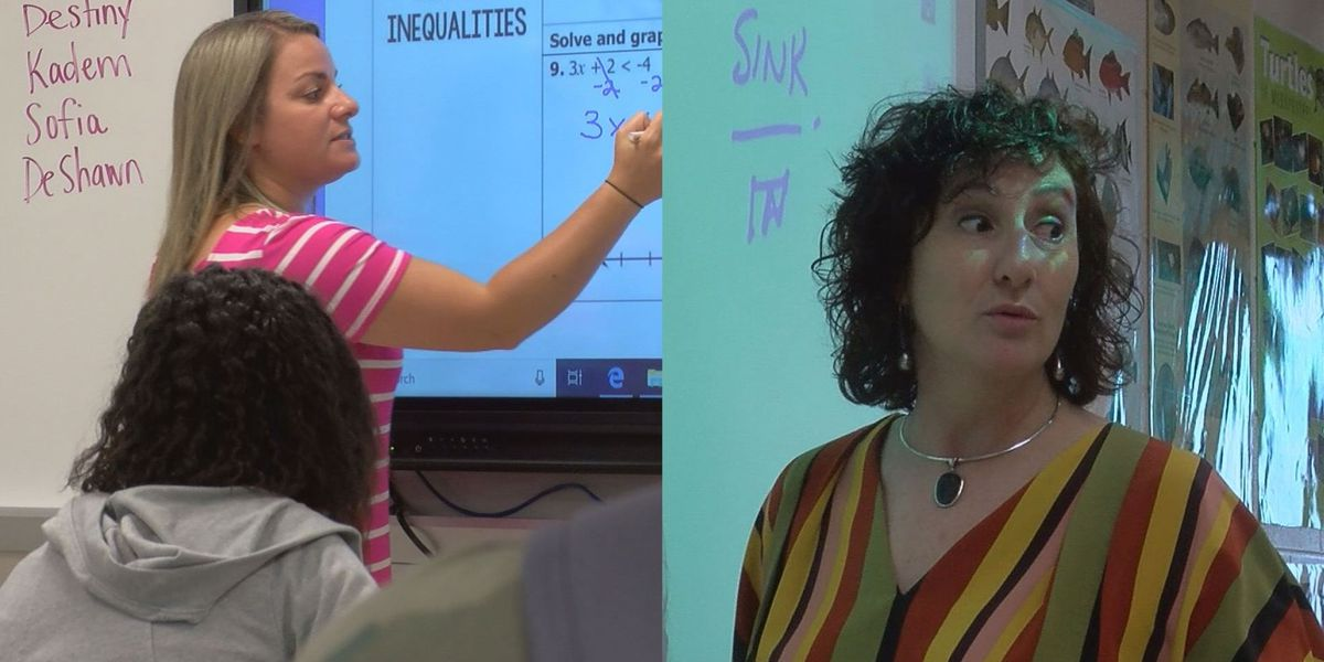 Two Coast teachers recognized as state finalists for prestigious award