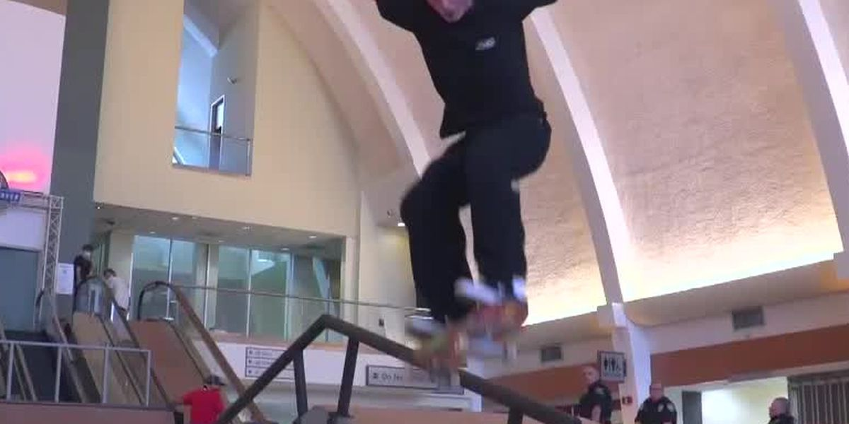 Red Bull sets up skateboarding competition in old MSY terminal