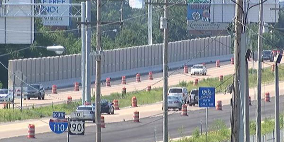 Sound barrier complete on I-110