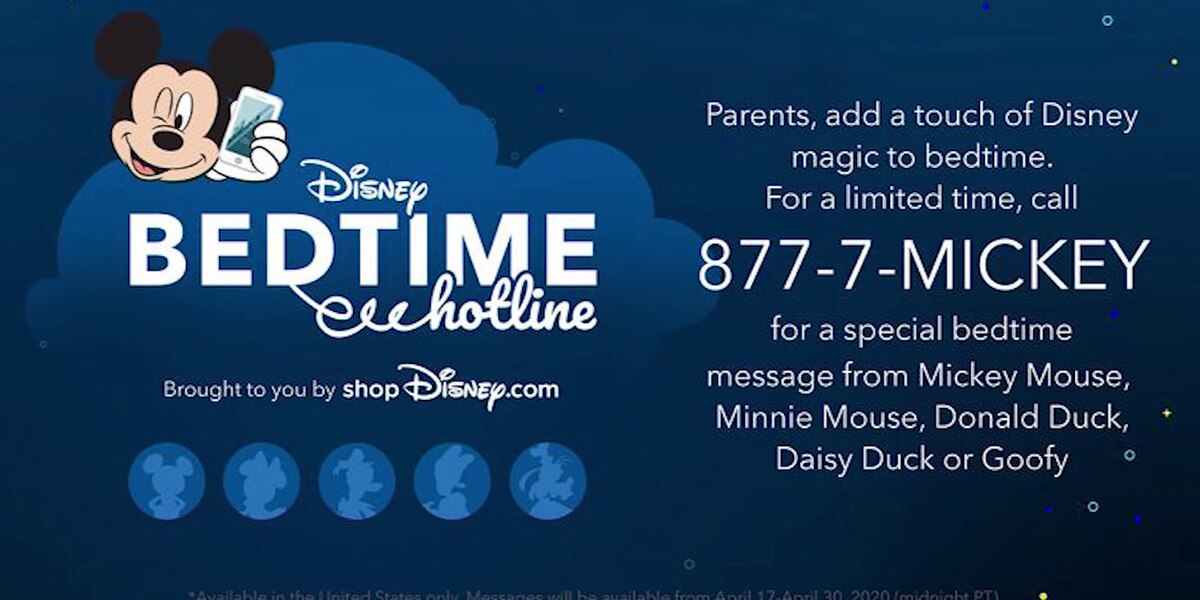 Disney brings back Bedtime Hotline for kids