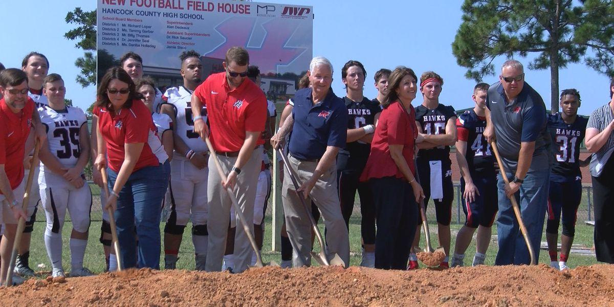Hancock High breaks ground on new field house