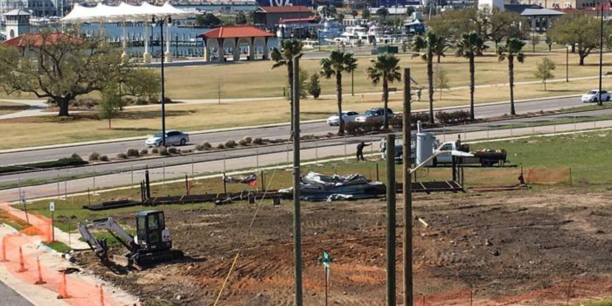 Mayor excited about progress of Gulfport aquarium