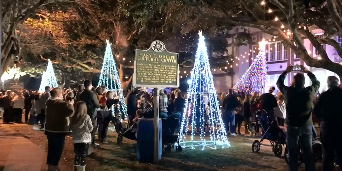 Ocean Springs is decked out for the holidays