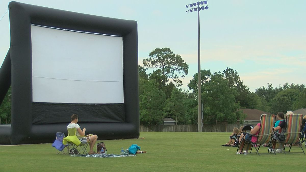 Pop up movie event in Goldin Park draws dozens of residents