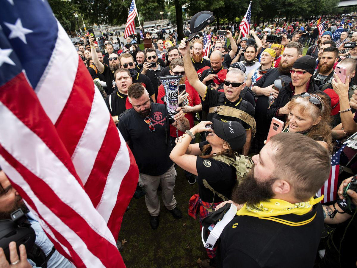 Portland, Oregon, largely peaceful after right-wing rally