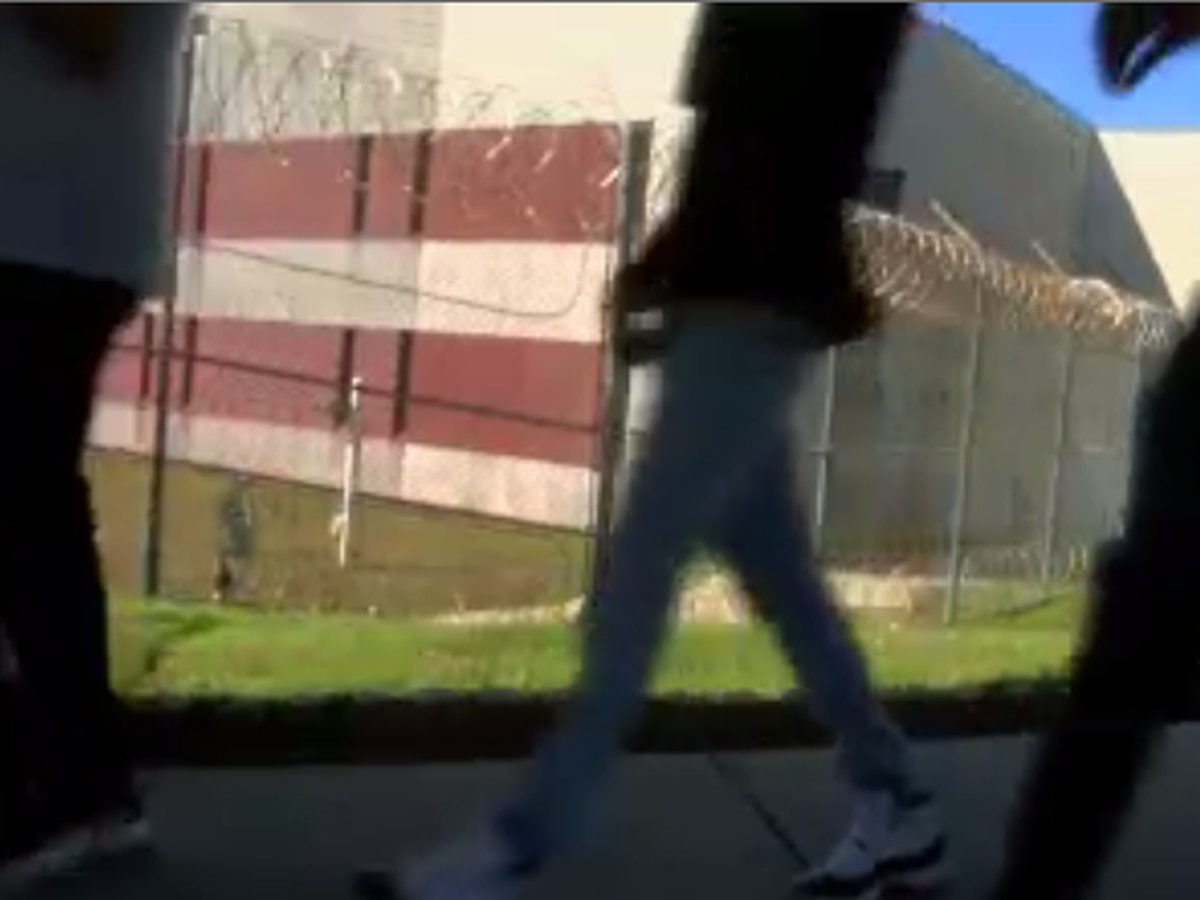 Alternative school students visit jail to get a dose of a possible reality