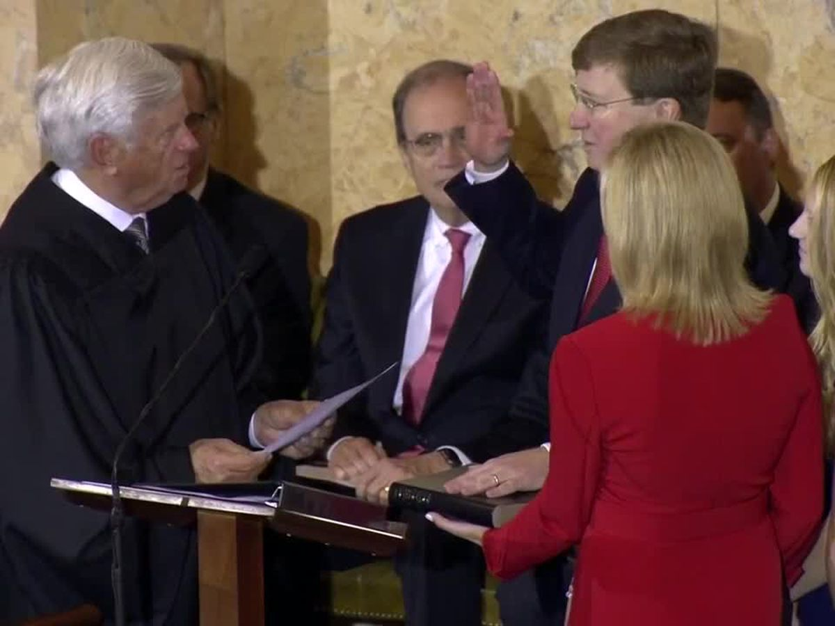 Inauguration Day: Tate Reeves is sworn in as Mississippi's 65th Governor