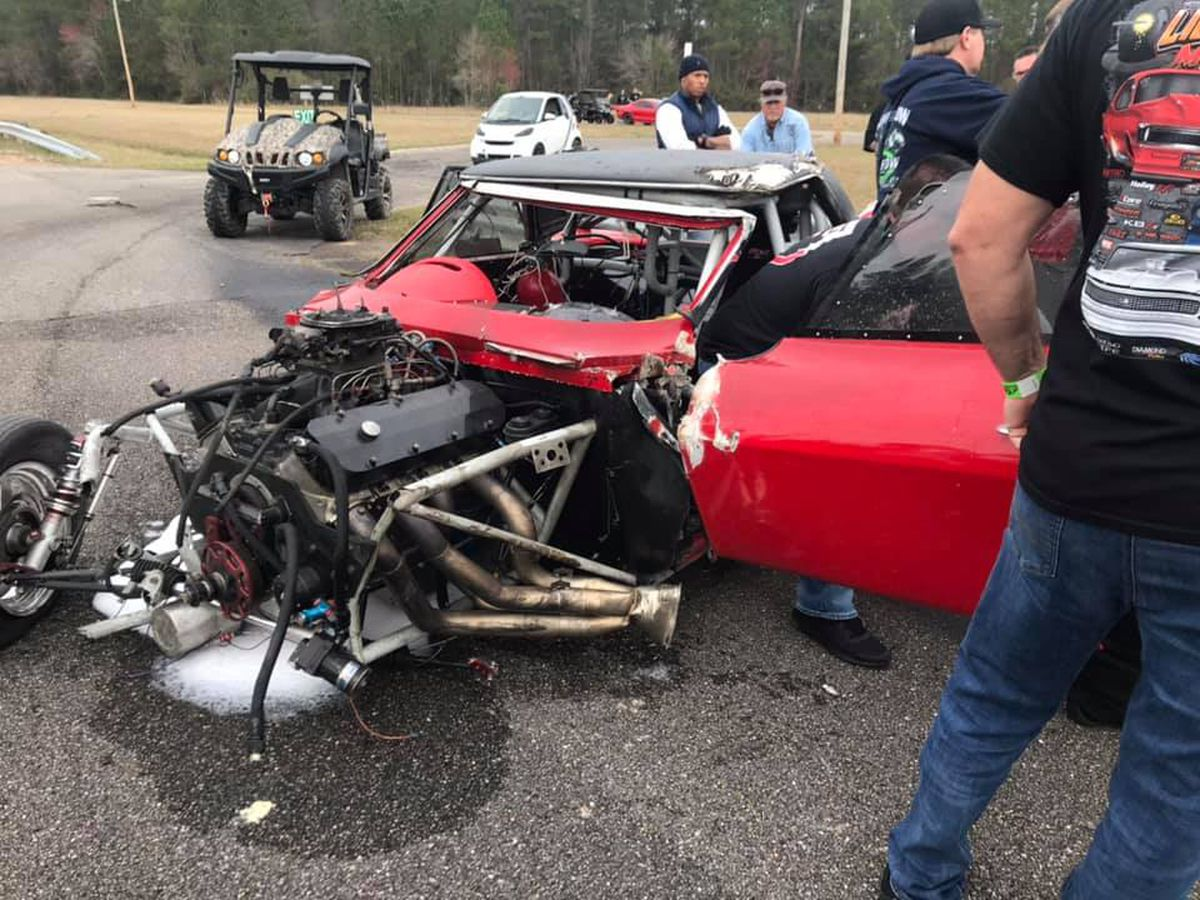 WATCH: High-speed dragway crash hospitalizes Coast firefighter
