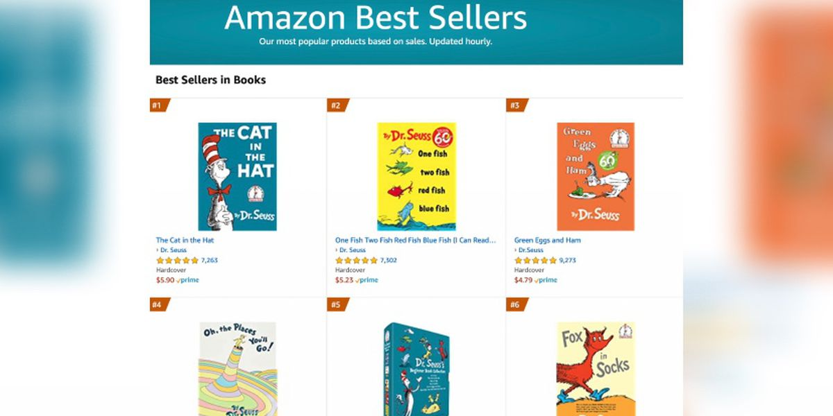 Dr. Seuss dominates Amazon best sellers list after some works discontinued