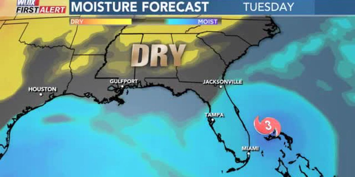 FORECAST VIDEO: Nice weather this week for us, thanks in part to Dorian