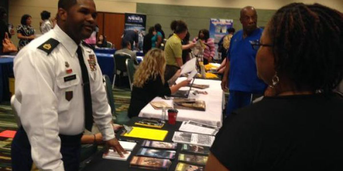 Veteran job fair packs Coast Coliseum conference room