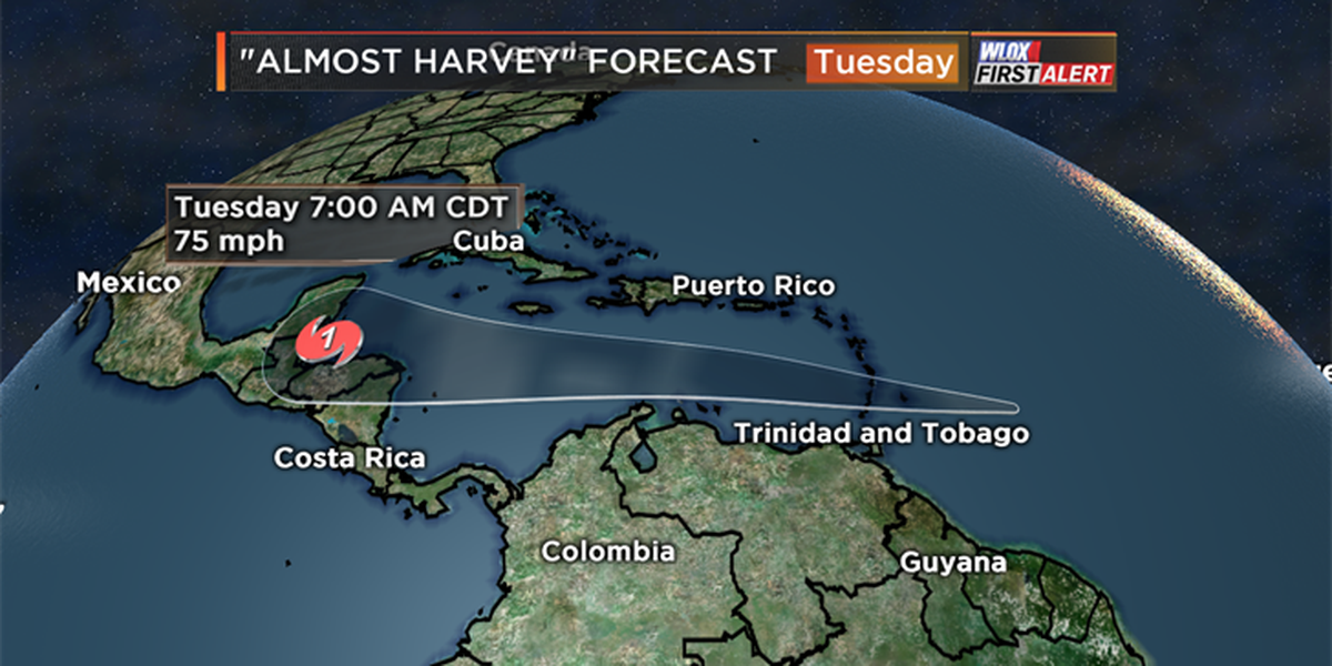 Hurricane headed for the Yucatan next week