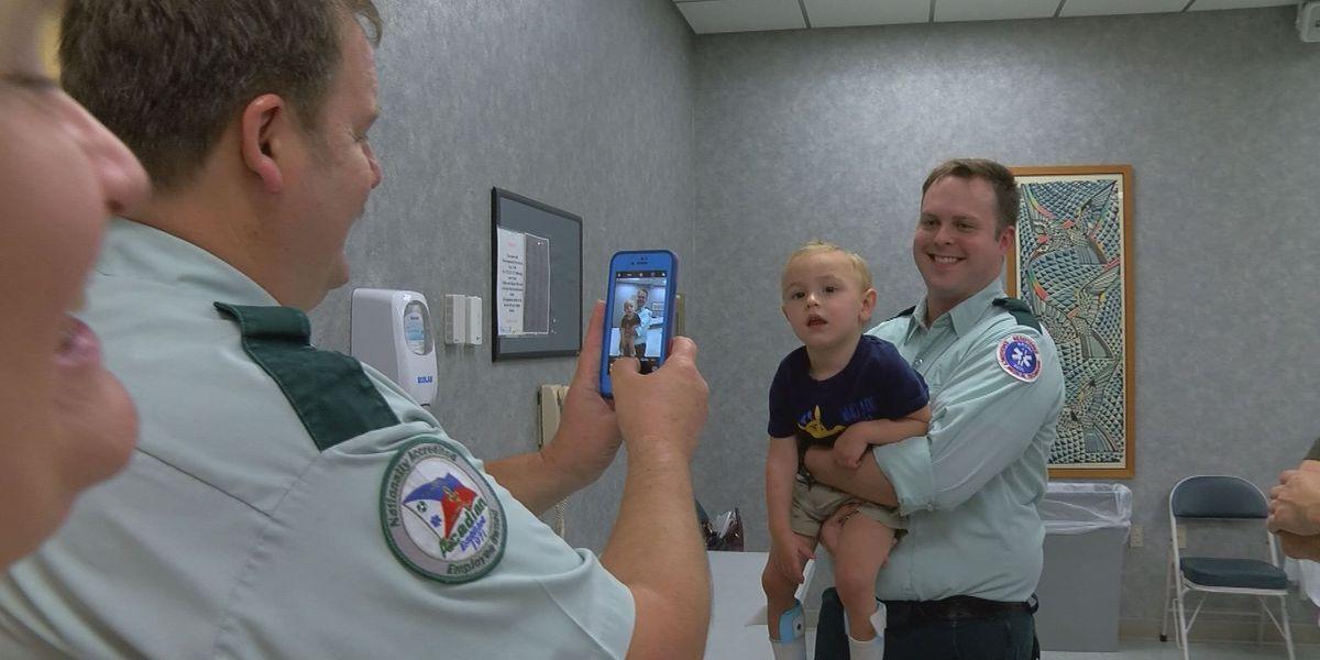 Ocean Springs parents thank emergency crews 1 year later