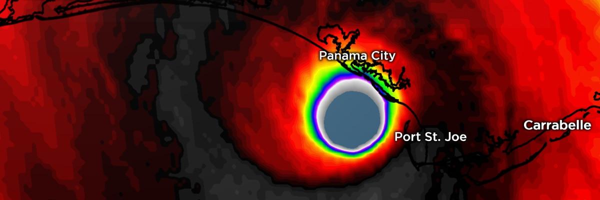 Major Hurricane Michael making landfall near Panama City