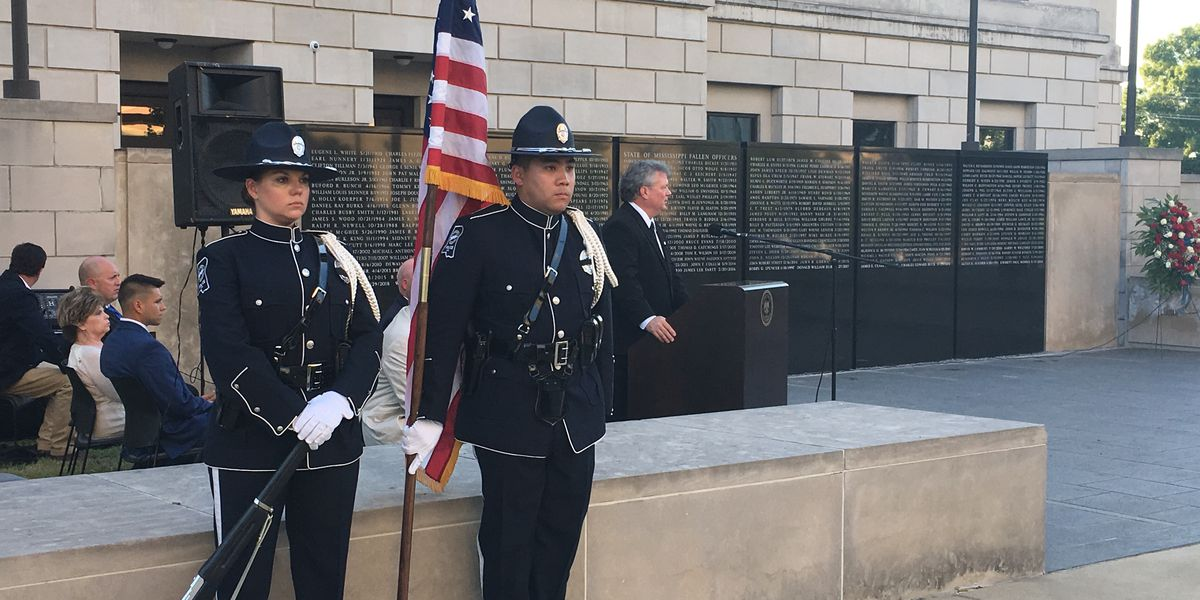 Mississippi law enforcement pay tribute to fallen officers