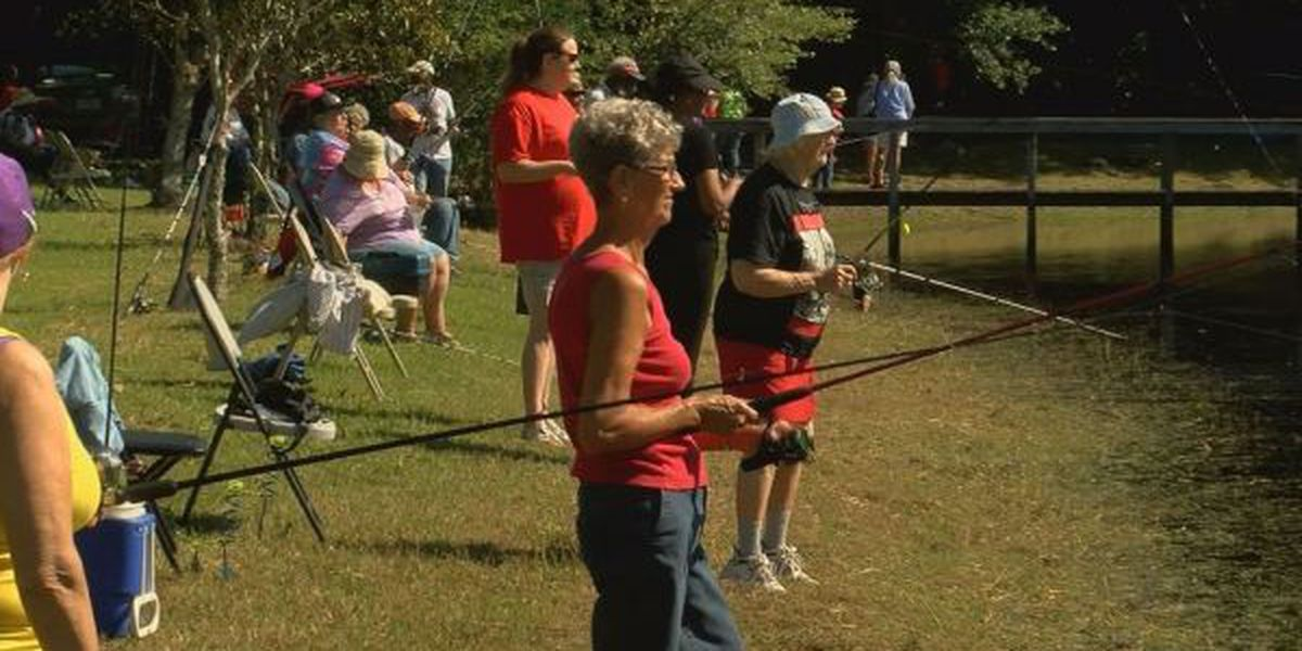 Senior citizens spend day fishing in Harrison County