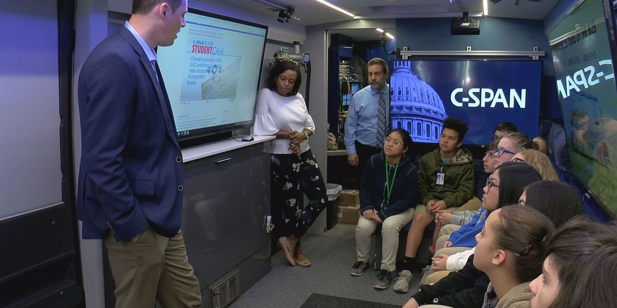 C-SPAN tour bus swings through South Mississippi