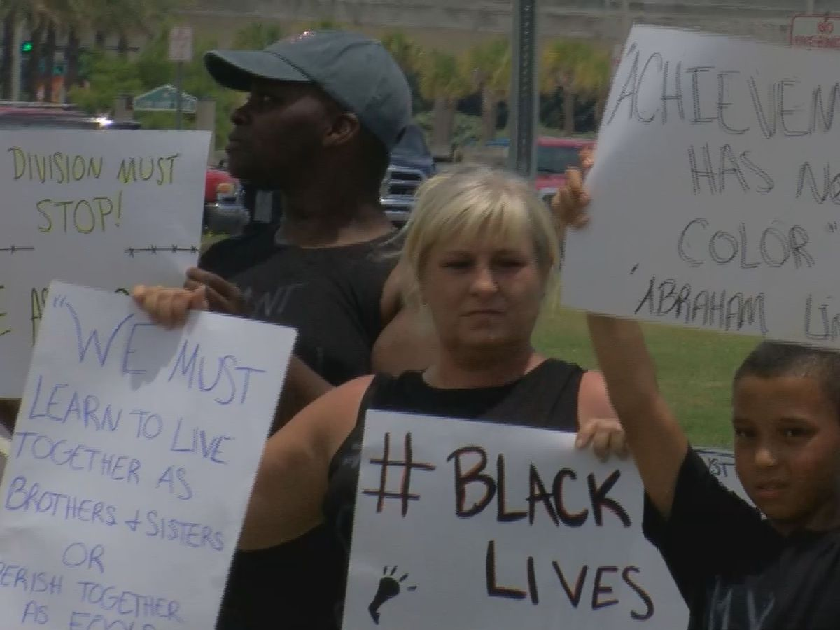 Protesters in Biloxi speak out against death of George Floyd