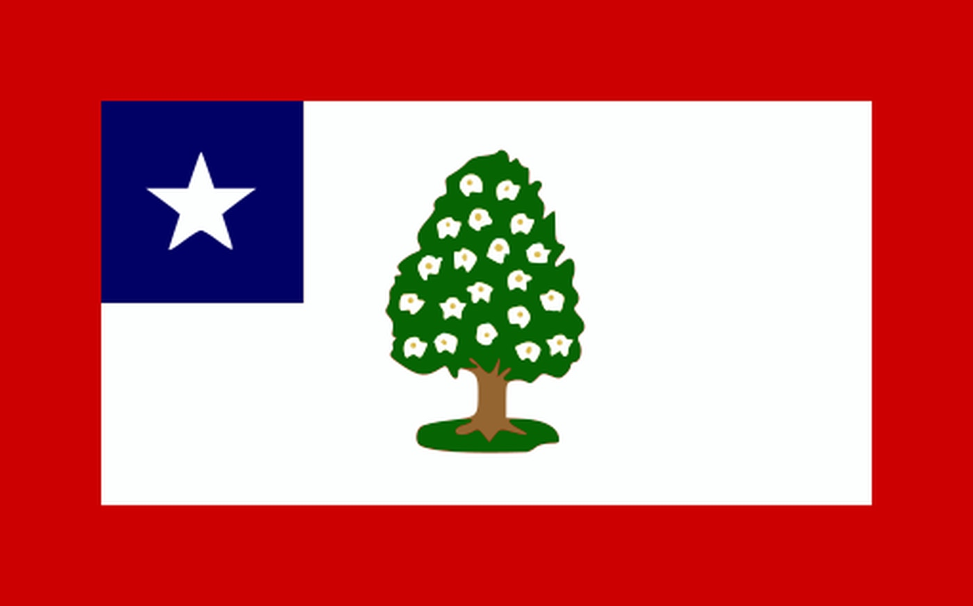 The Magnolia Flag was the first official state flag of Mississippi, flying from March 30, 1861, until August 22, 1865.