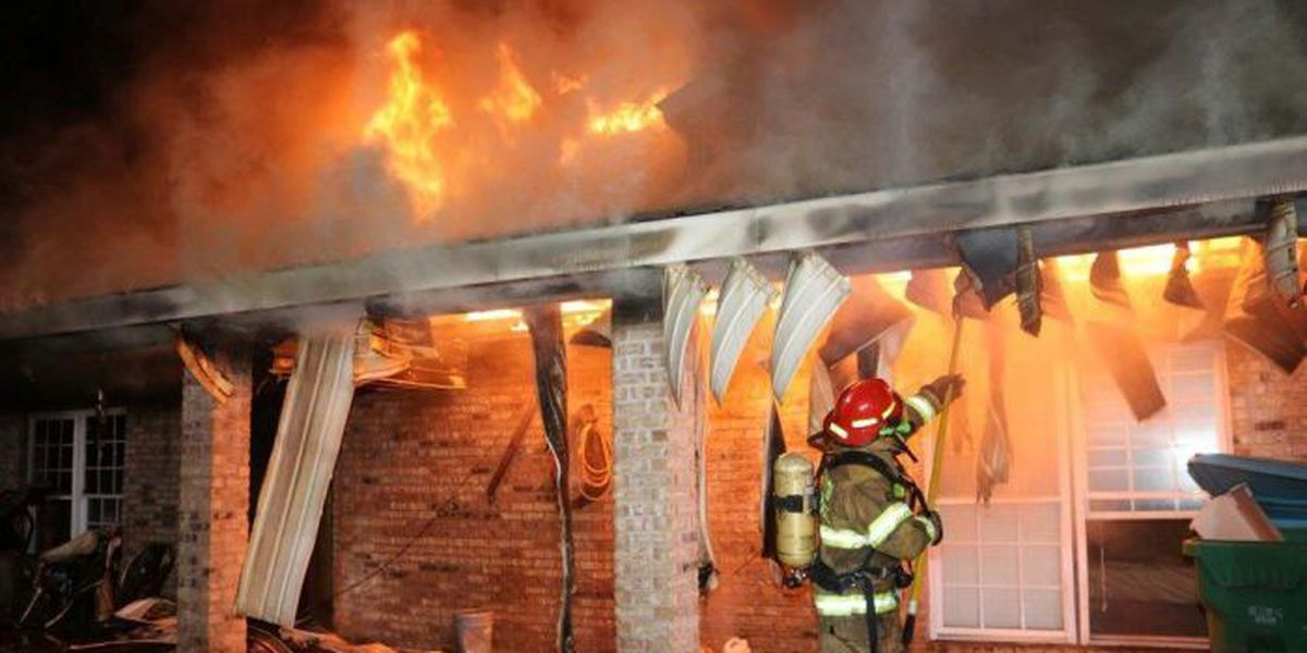 Father, toddler crawl out of window to escape burning home