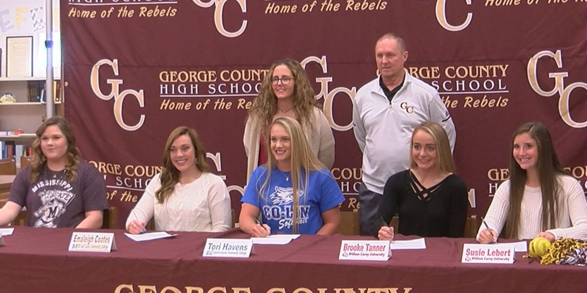 George County Hosts Signing Day For Five Softball Players