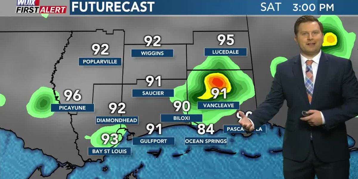 Hot weekend with stray afternoon storms possible