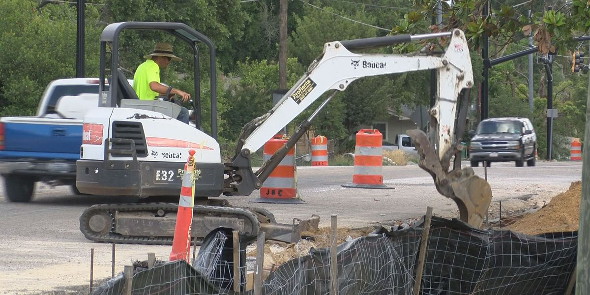 Revitalization work on Courthouse Rd passes halfway point