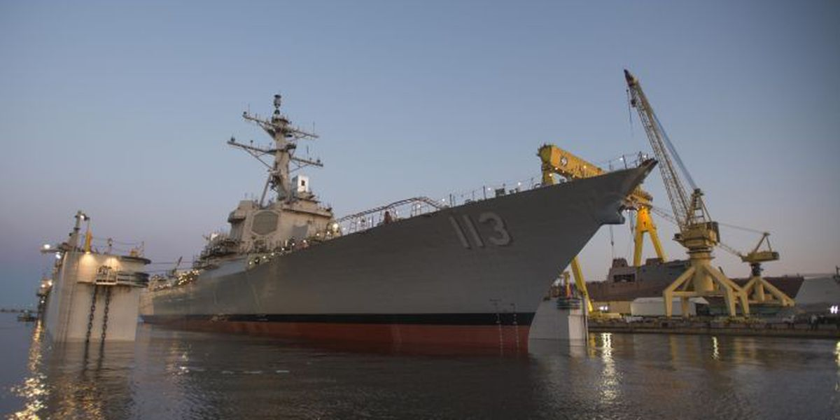Successful launch by Ingalls for guided missile destroyer