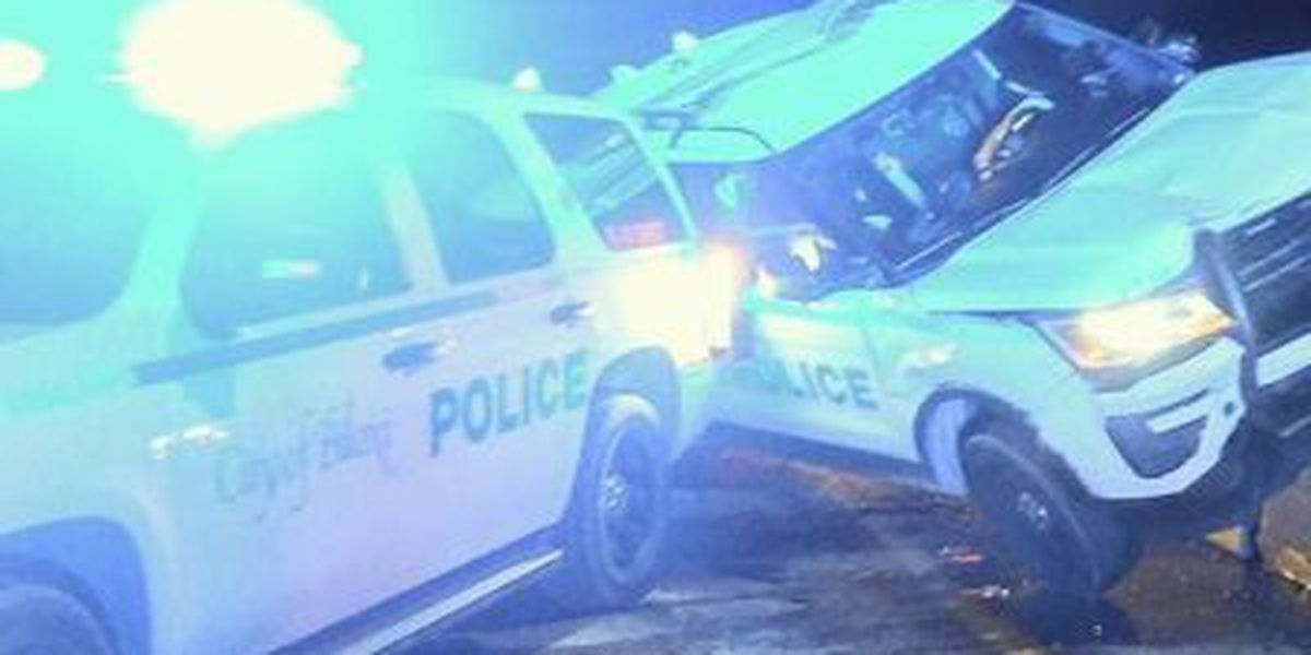 Traffic moving again after 2 police cruisers hit in Biloxi