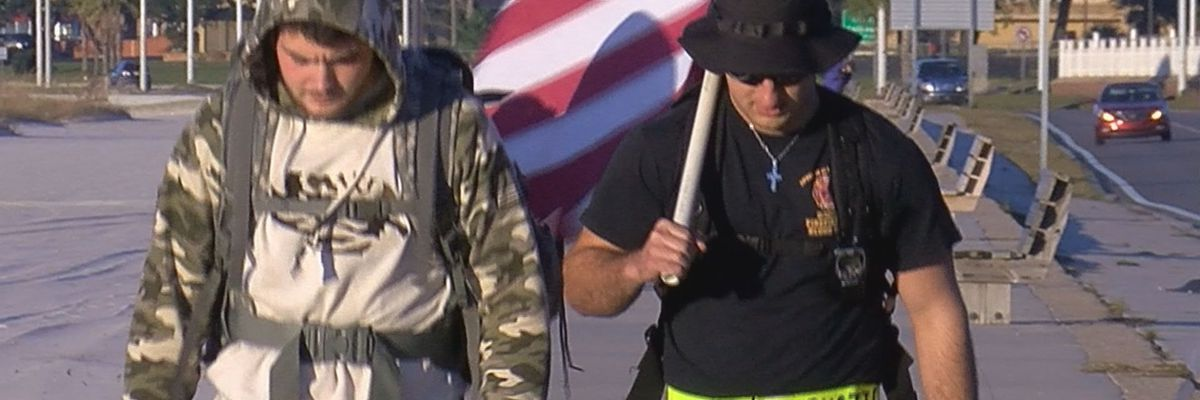 LSU students march 323 miles for veterans fundraiser