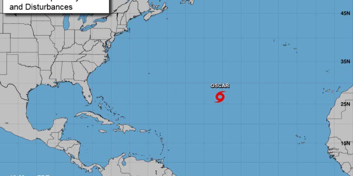 Subtropical Storm Oscar forms in Atlantic