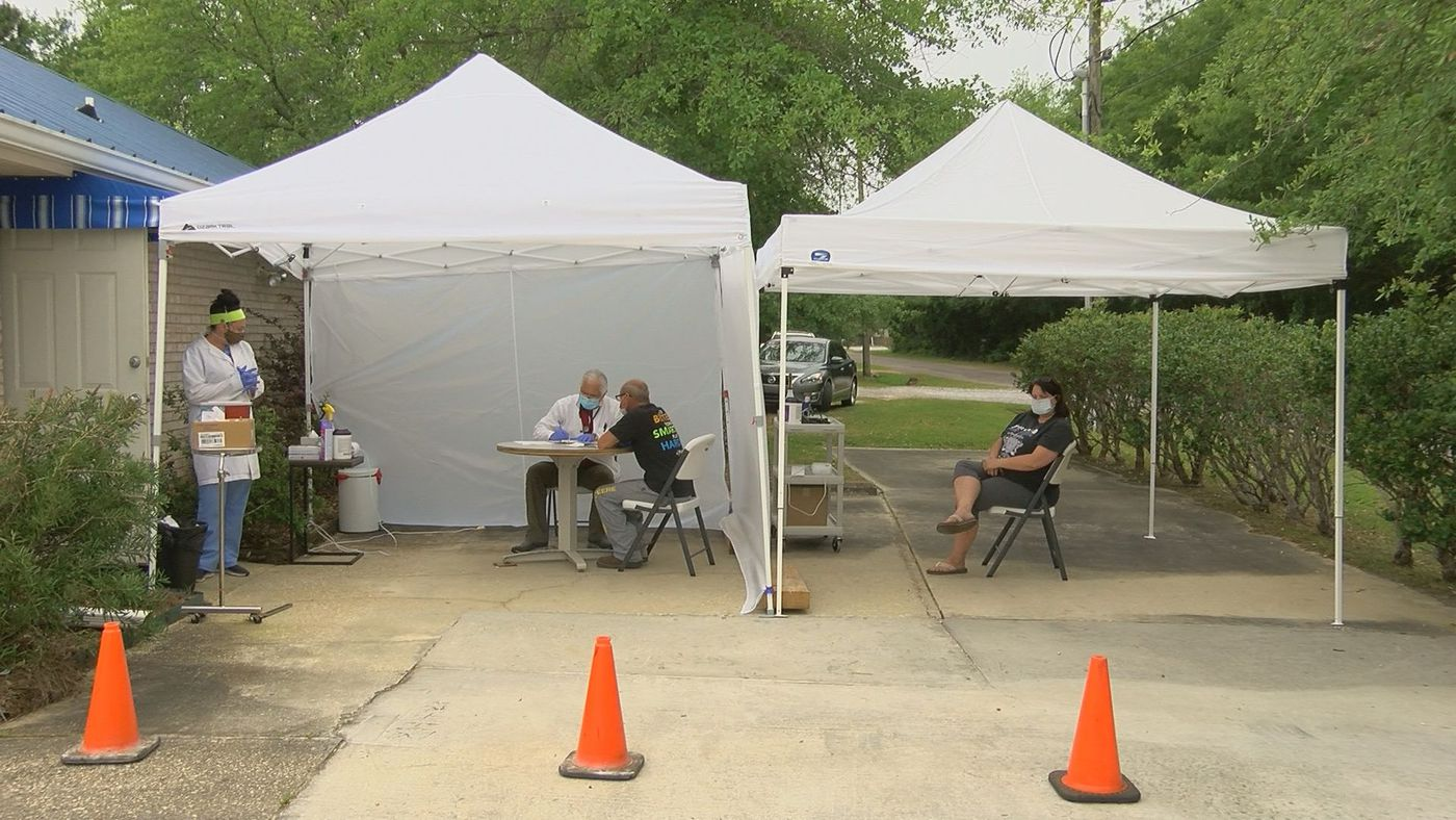 Dr. Dimitri Yanez set up a COVID clinic outside Hancock Women's Center in Bay St. Louis four weeks ago.