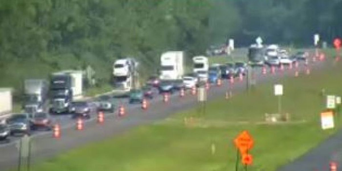 I-10 westbound backed up in Jackson Co.