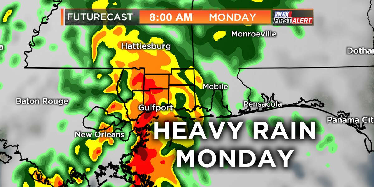 Heavy rain and localized flash flooding possible Monday
