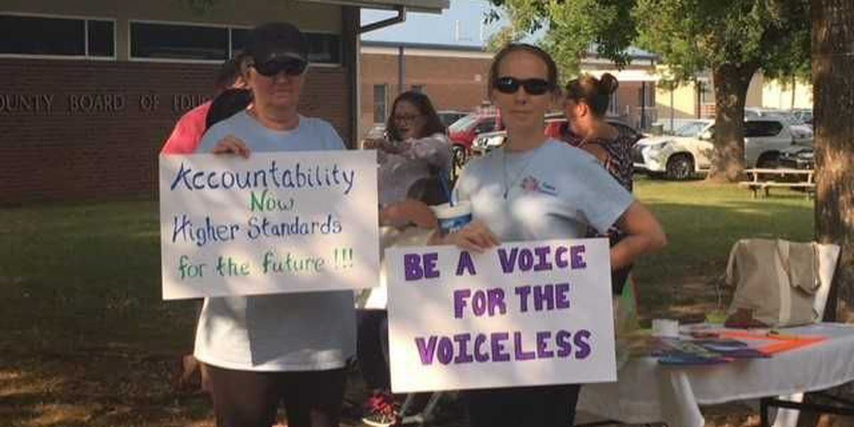 Parents rally at Jackson Co. School Board meeting looking for answers