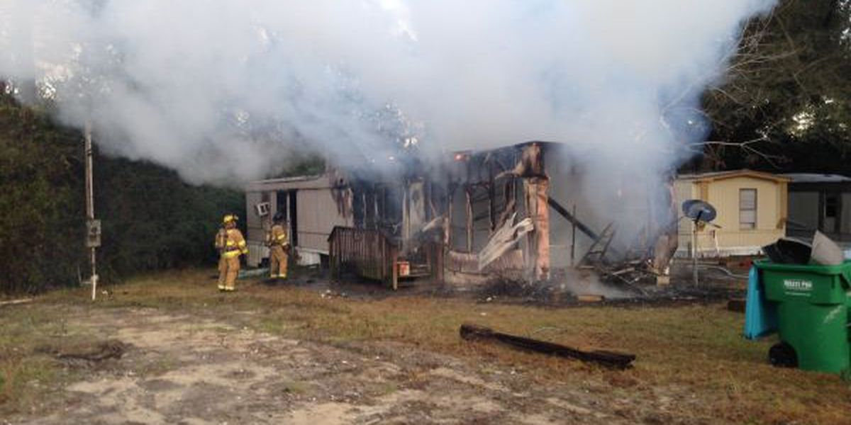 Victim trapped by fire at Gulfport trailer park