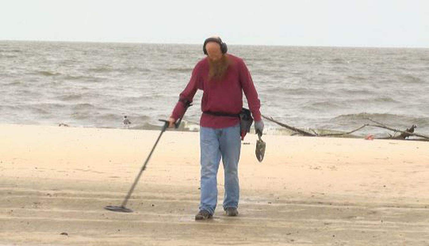 Beach Goers Not Stalled By Remnants Of Hurricane Barry