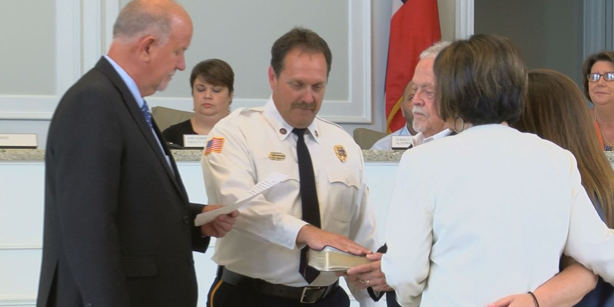 Long Beach swears in new fire chief: Griff Skellie