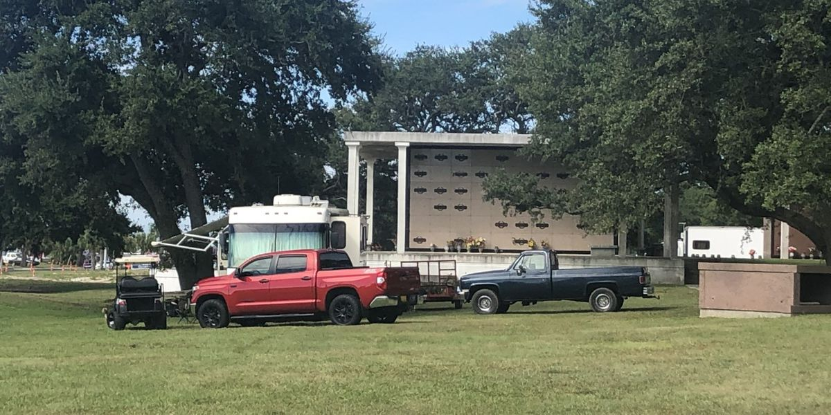 Cemetery parking during Cruisin' the Coast angers family members