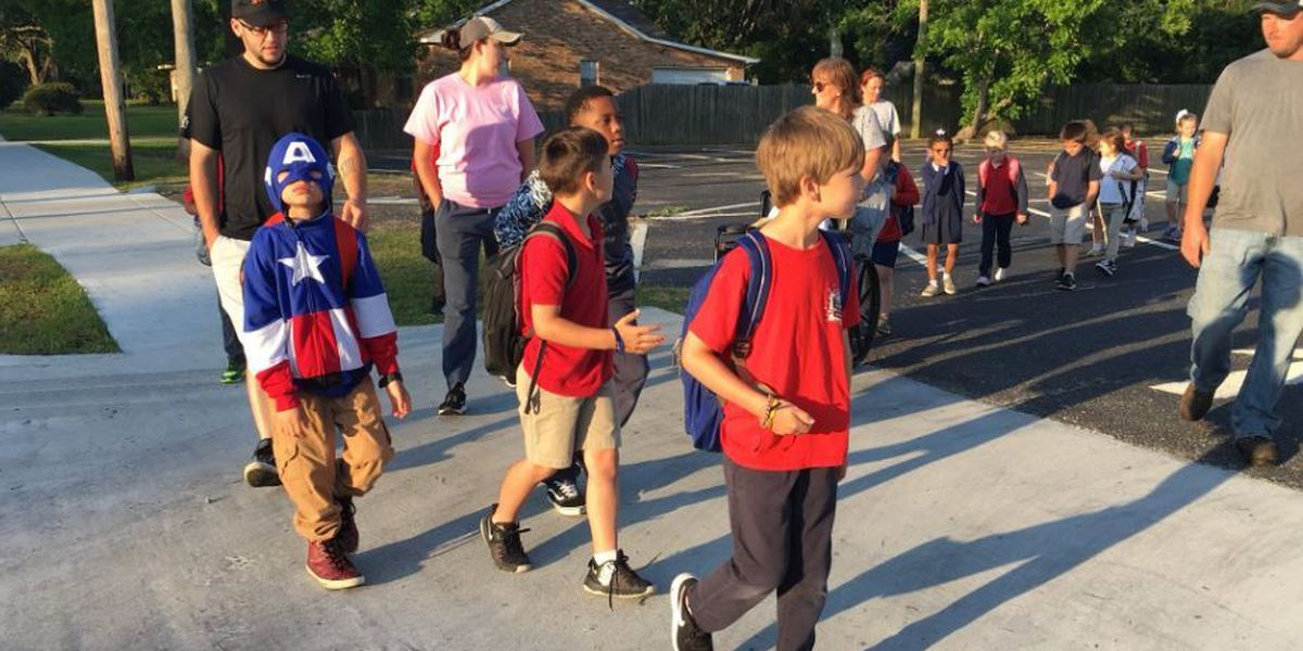 Pascagoula schools celebrate Walk & Bike to School Day