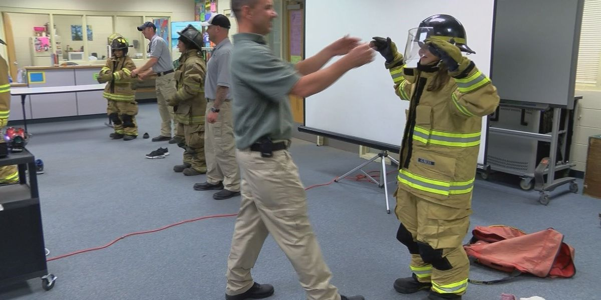 Educators at Stone Middle School host first responders