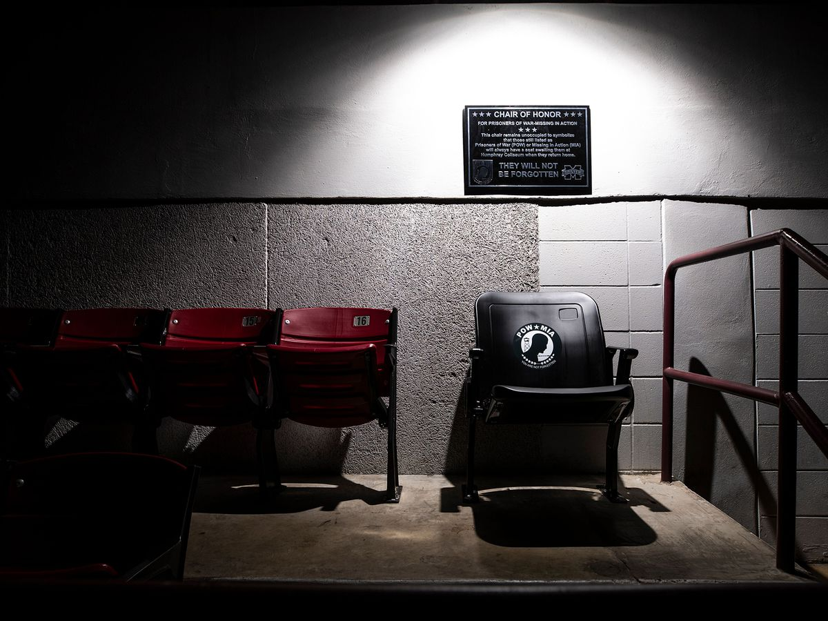 Mississippi State dedicates POW/MIA Chairs of Honor at athletic venues