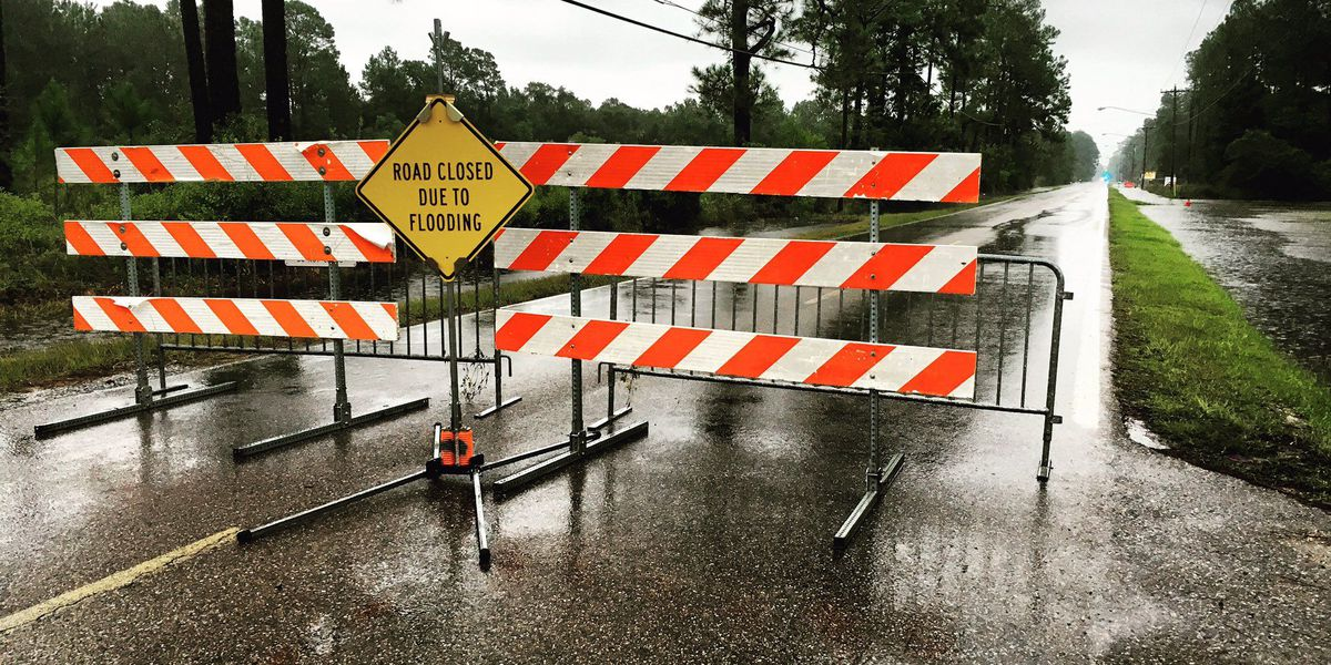 Minor street flooding across South Mississippi