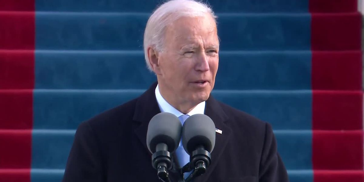 Biden at inauguration: 'Let's begin to listen to one another again'