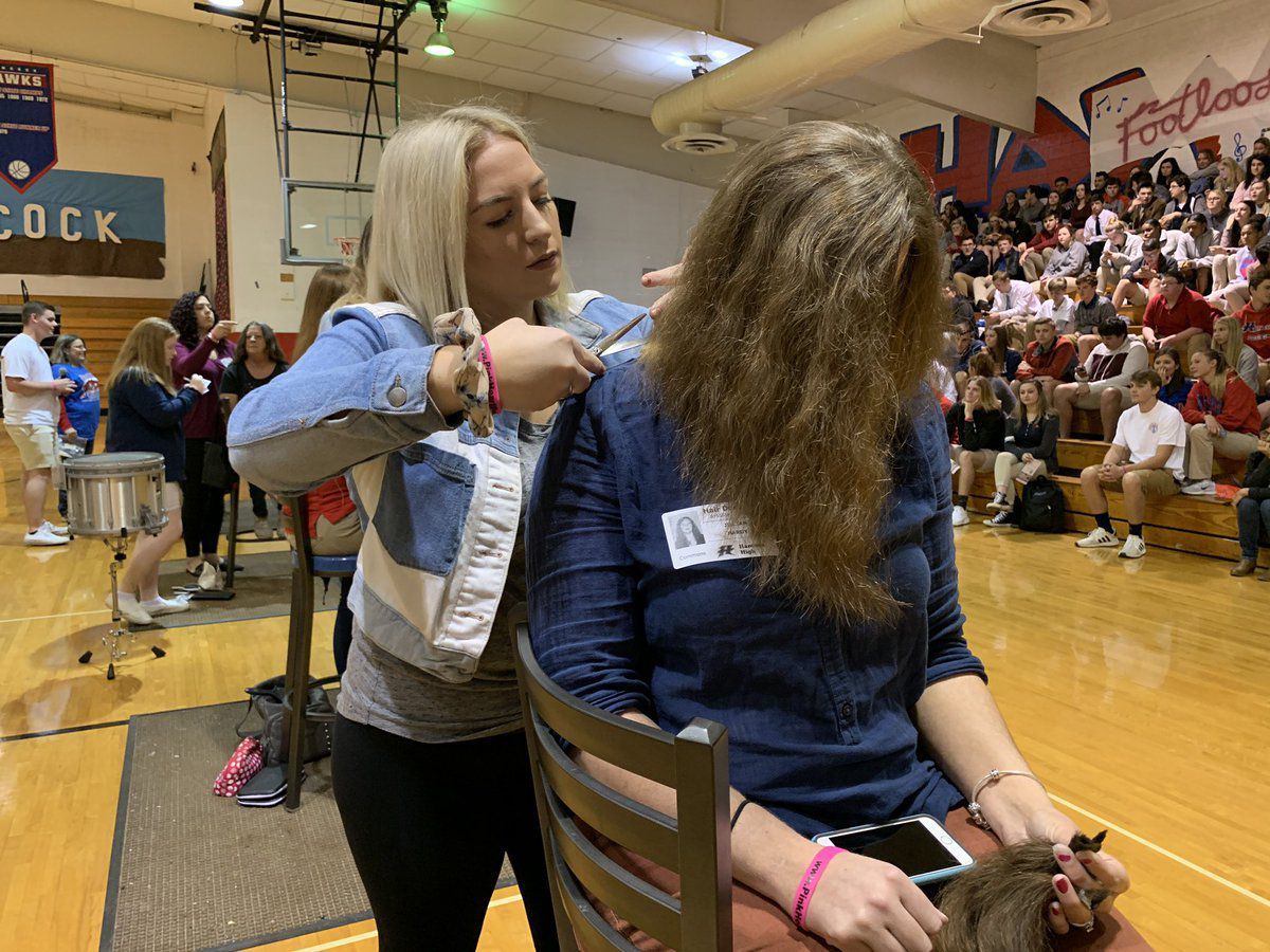 Hancock High hosts first 'ponytail drive' to help cancer patients